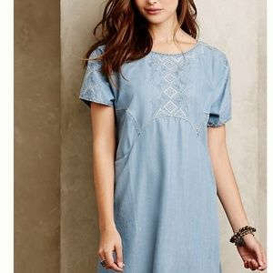 Anthro Holding Horses Chambray Tunic Dress XSP
